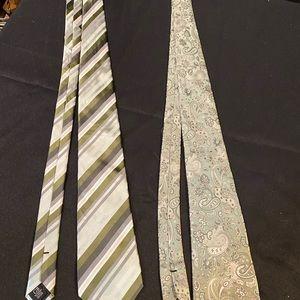 Green men's ties